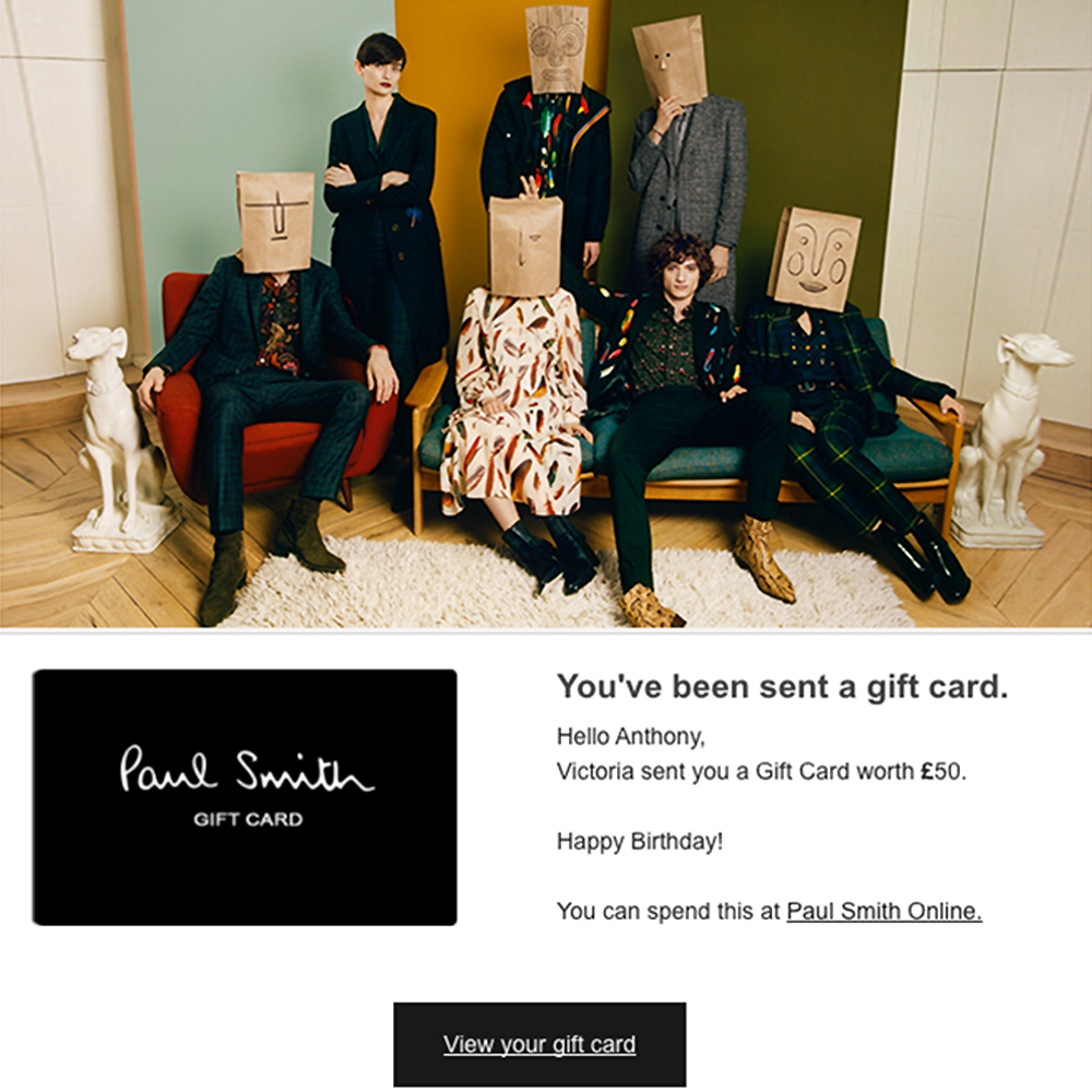 Paul smith gift cards negle Image collections
