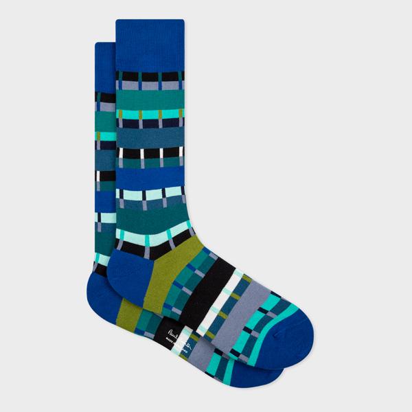Men's Blue 'Pippin Stripe' Socks
