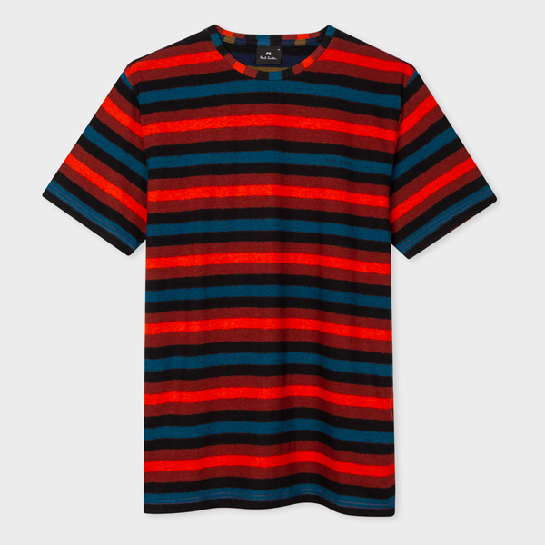 Men's Red Stripe Cotton T-Shirt