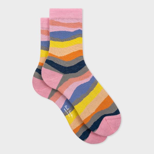 Women's Pink 'Mountain Stripe' Socks