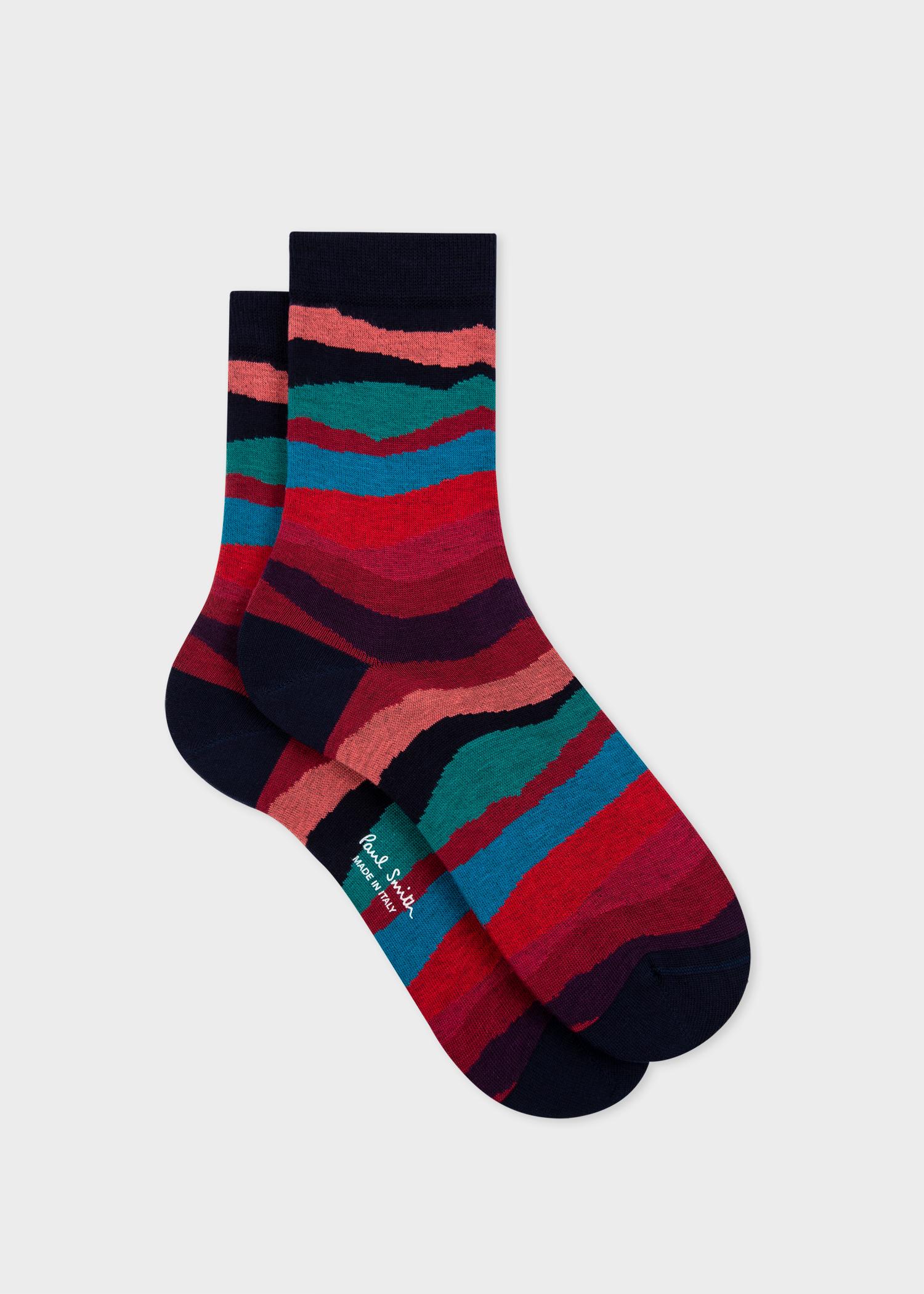 Women's Navy 'Mountain Stripe' Socks