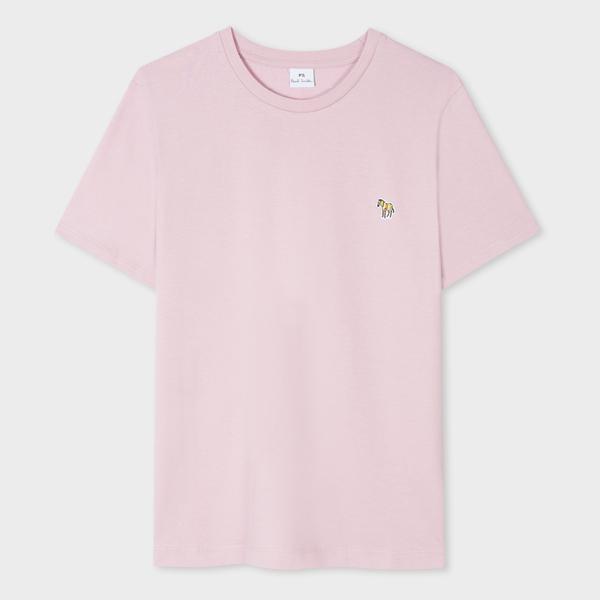 Women's Light Pink Zebra Logo Organic Cotton T-Shirt
