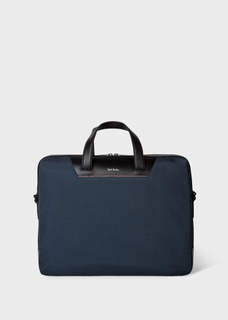 폴 스미스 서류가방 Paul Smith Navy Canvas Travel Folio With Signature Stripe Trim