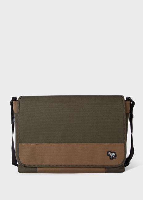 폴 스미스메신저백 Paul Smith Mens Khaki Zebra Logo Messenger Bag