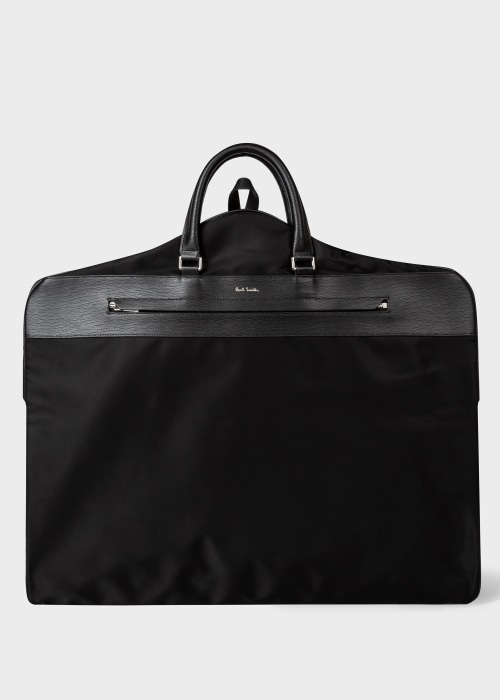 폴 스미스 Paul Smith Mens Black Suit Carrier With Embossed Leather Trim