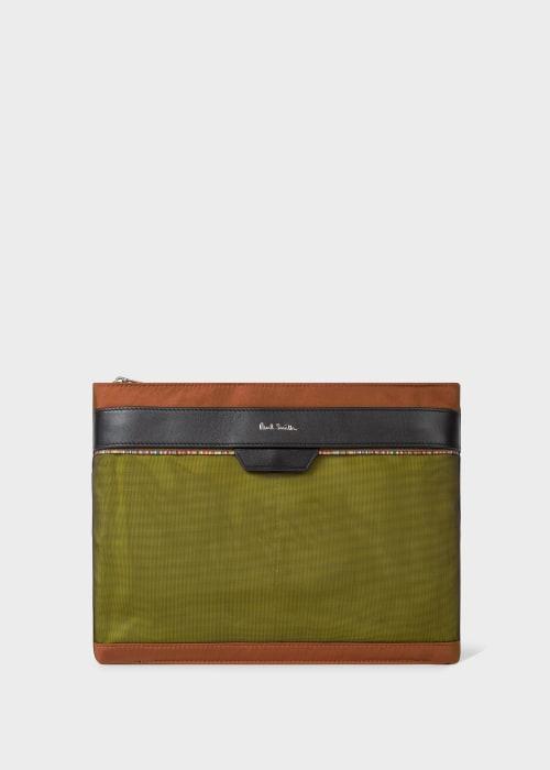 폴 스미스 Paul Smith Mens Yellow And Copper Flat Cross-Body Bag