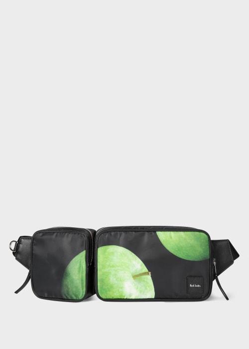 폴 스미스 Paul Smith Mens Green Apple Print Double Bum Bag