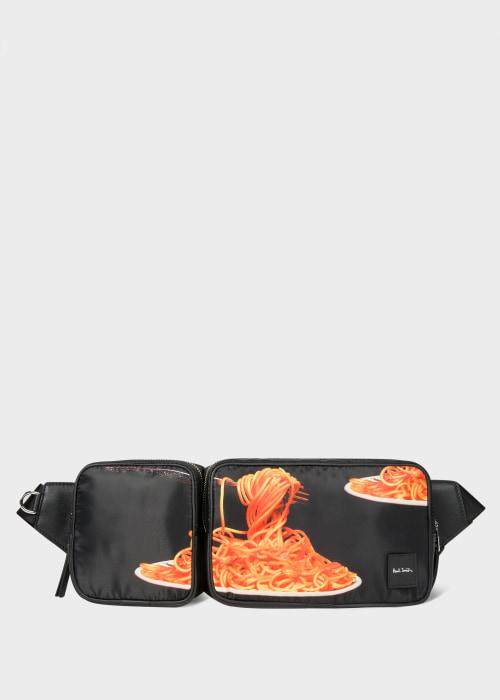 폴 스미스 Paul Smith Mens Spaghetti Print Double Bum Bag