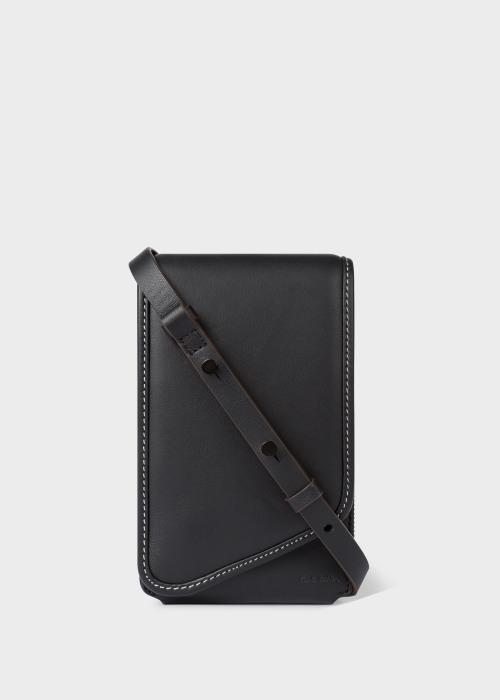 폴 스미스 Paul Smith Black Leather Phone Pouch