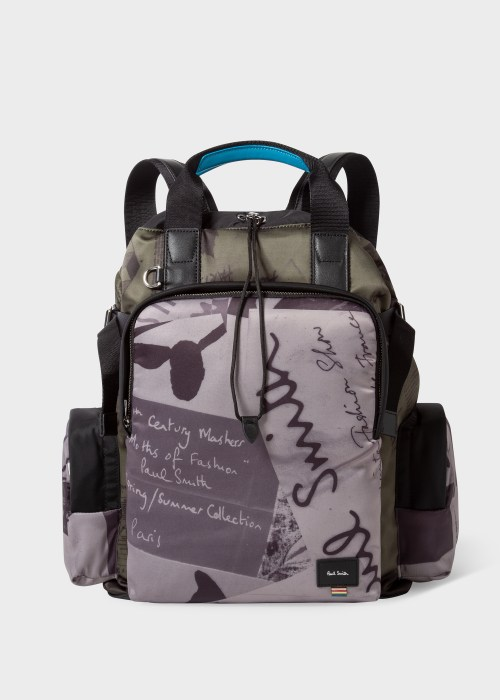 폴 스미스 Paul Smith Show Collage Print Duffle Backpack