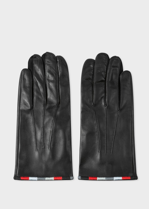 폴 스미스 Paul Smith & Manchester United - Black Leather Gloves