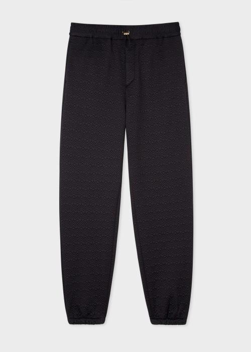 폴 스미스 Paul Smith Mens Black House Jacquard Sweatpants