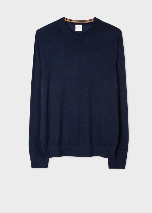 폴 스미스 Paul Smith Mens Navy Merino Sweater
