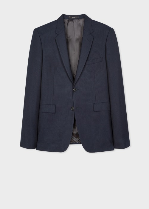 폴 스미스 Paul Smith The Kensington - Slim-Fit Navy Wool-Hopsack Blazer