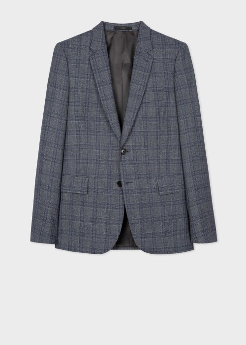 폴 스미스 Paul Smith The Soho - Tailored-Fit Grey Check 로로피아나 Loro Piana Blazer