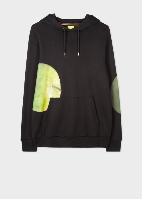 폴 스미스 Paul Smith Mens Green Apple Print Cotton Hoodie