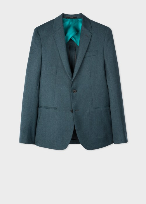 폴 스미스 Paul Smith The Kensington - Slim-Fit Petrol Wool-Cashmere Blazer