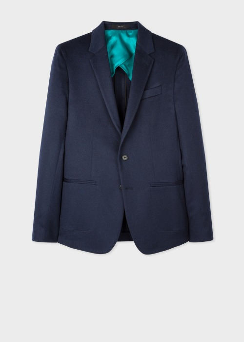 폴 스미스 Paul Smith The Kensington - Slim-Fit Navy Cashmere Blazer