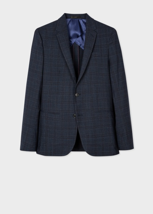 폴 스미스 Paul Smith The Kensington - Slim-Fit Navy 로로피아나 Loro Piana Tweed Blazer
