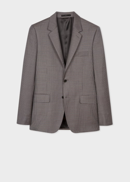 폴 스미스 Paul Smith The Soho - Tailored-Fit Micro-Check Wool Blazer