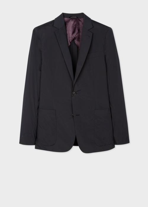 폴 스미스 Paul Smith Mens Tailored-Fit Dark Navy Lightweight Travel Blazer