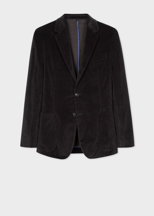폴 스미스 Paul Smith Mens Smoke Grey Corduroy Unlined Blazer