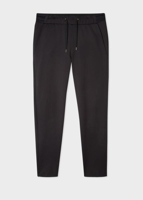 폴 스미스 Paul Smith Mens Black Cotton-Blend Sweatpants