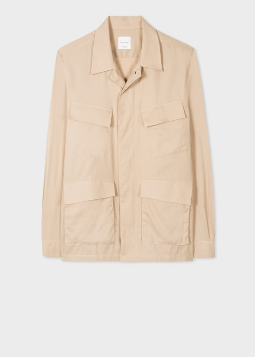 폴 스미스 Paul Smith Mens Tan Organic Cotton Shirt Jacket