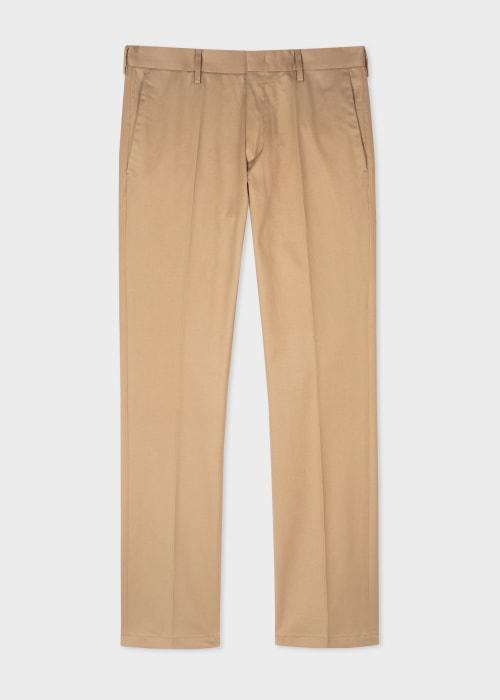 폴 스미스 Paul Smith Mens Slim-Fit Camel Stretch-Cotton Chinos