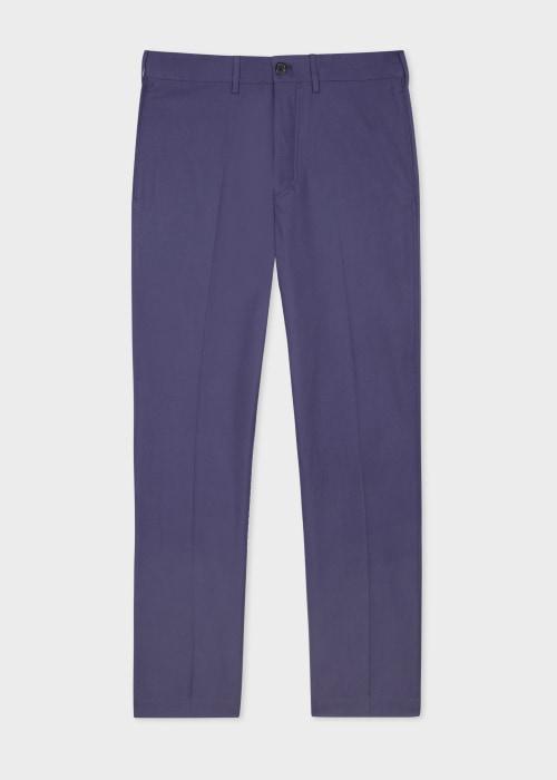폴 스미스 Paul Smith Mens Washed Lilac Blue Cotton Chinos