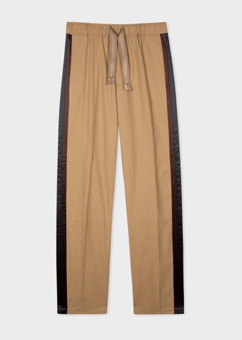 폴 스미스 Paul Smith Mens Tan Lightweight Cotton Trousers