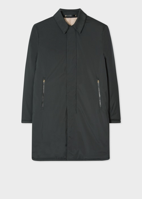 폴 스미스 Paul Smith Mens Dark Green Padded Mac