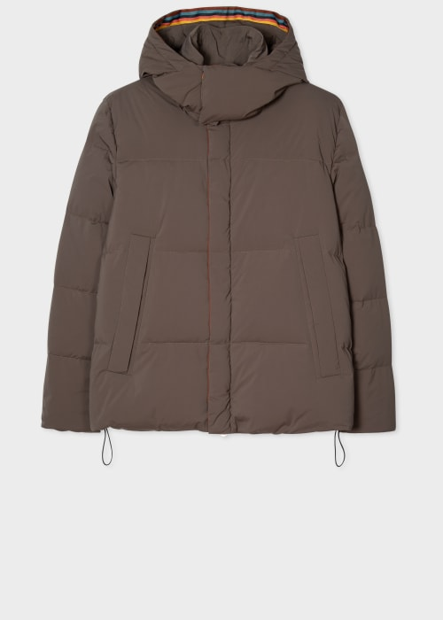 폴 스미스 Paul Smith Mens Brown Short Down Parka
