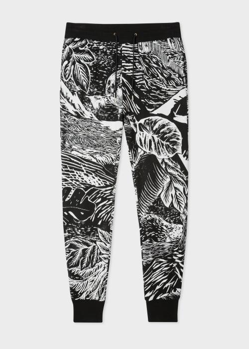 폴 스미스 Paul Smith Mens Black Chile Jacquard Sweatpants