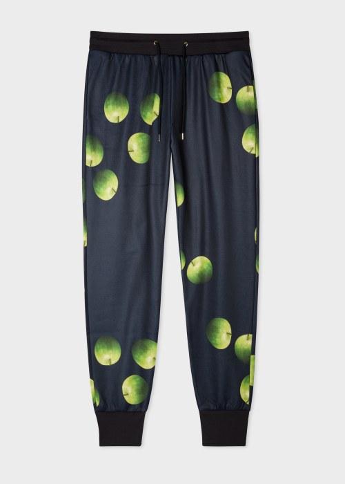 폴 스미스 Paul Smith Mens Green Apple Print Cotton-Blend Sweatpants