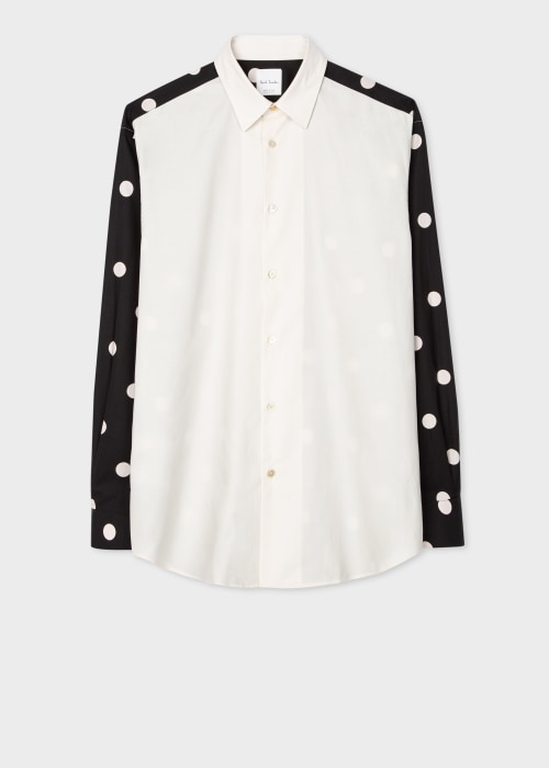 폴 스미스 Paul Smith Mens Classic-Fit Shirt With Contrast Sleeves