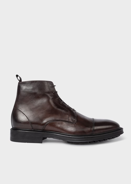 폴 스미스 Paul Smith Mens Brown Leather Cubitt Boots