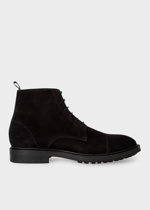 폴 스미스 Paul Smith Mens Black Suede Cubitt Boots