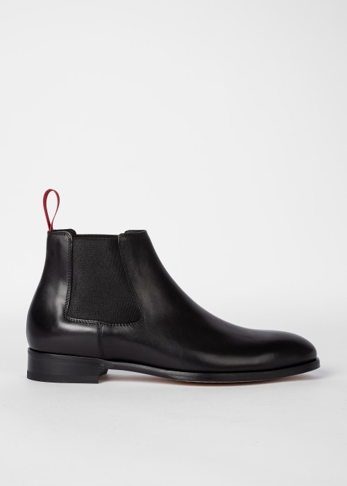 폴 스미스 Paul Smith Mens Black Crown Chelsea Boots