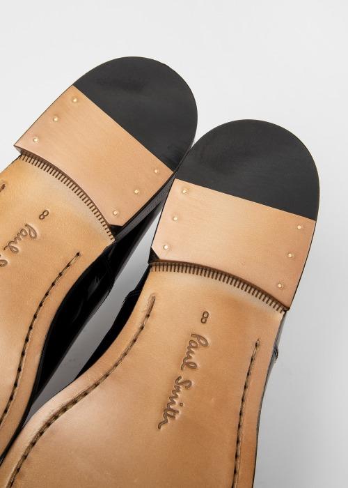 폴 스미스 Paul Smith Mens Black Patent Leather Gershwin Oxford Shoes