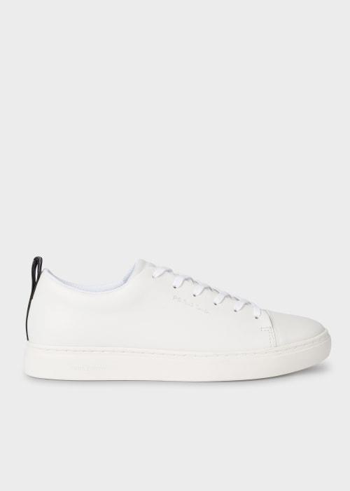 폴 스미스 Paul Smith Mens White Leather Lee Trainers