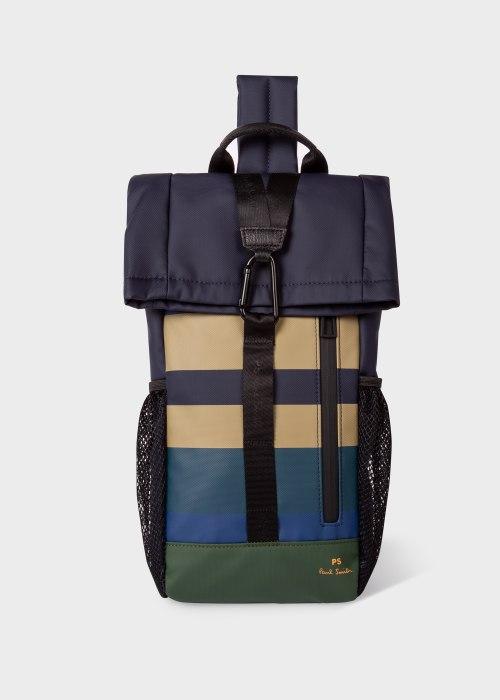폴 스미스 Paul Smith Mens Coated Engineered Stripe Sling Backpack