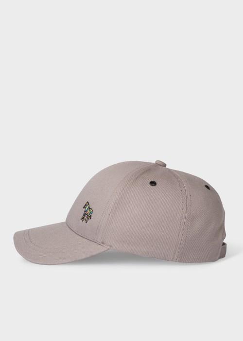폴 스미스 Paul Smith Mens Light Grey Cotton Zebra Logo Baseball Cap