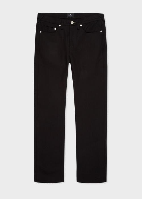 폴 스미스 Paul Smith Mens Slim-Fit 12oz Black Stretch Denim Jeans