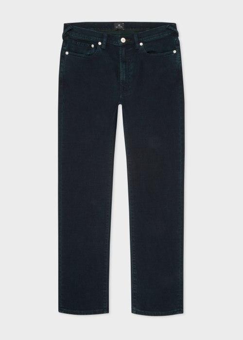 폴 스미스 Paul Smith Mens Slim-Fit Navy Crosshatch Stretch Over-Dye Jeans