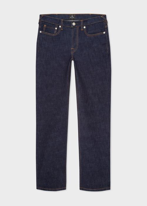 폴 스미스 Paul Smith Mens Slim-Fit Indigo-Rinse Crosshatch Stretch Jeans