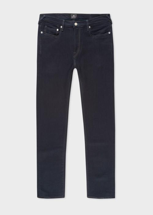 폴 스미스 Paul Smith Mens Slim-Fit Indigo Blue/Black Reflex Jeans