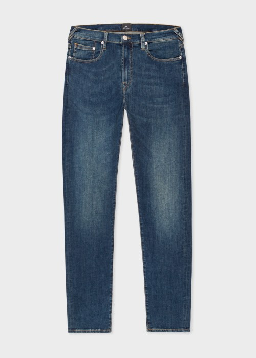 폴 스미스 Paul Smith Mens Slim-Fit Antique-Wash Organic Reflex Jeans