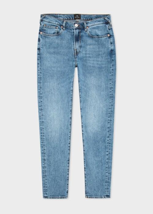 폴 스미스 Paul Smith Mens Slim-Fit Mid-Wash Dry Indigo Jeans