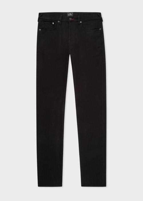 폴 스미스 Paul Smith Mens Slim-Standard Stay Black Organic Reflex Jeans